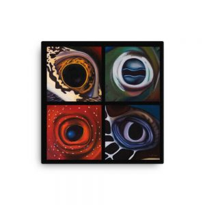 Underwater Windows - Aquatic Eyes Painting - Canvas Print Lifestyle
