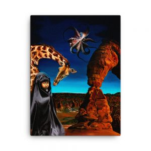 CAVIS Guardian Painting Canvas Print