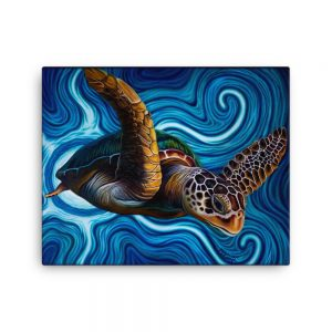 CAVIS Sea Turtle painting Canvas Print 16x20