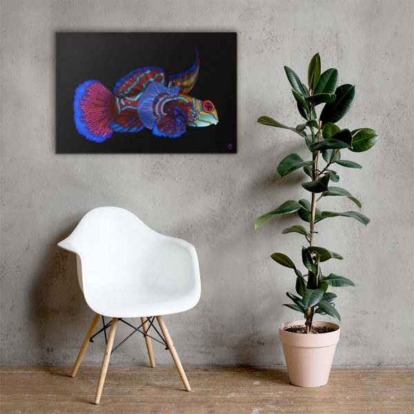 CAVIS Mandarinfish Gallery Wrapped Canvas Wall Art 24x36 Lifestyle 1