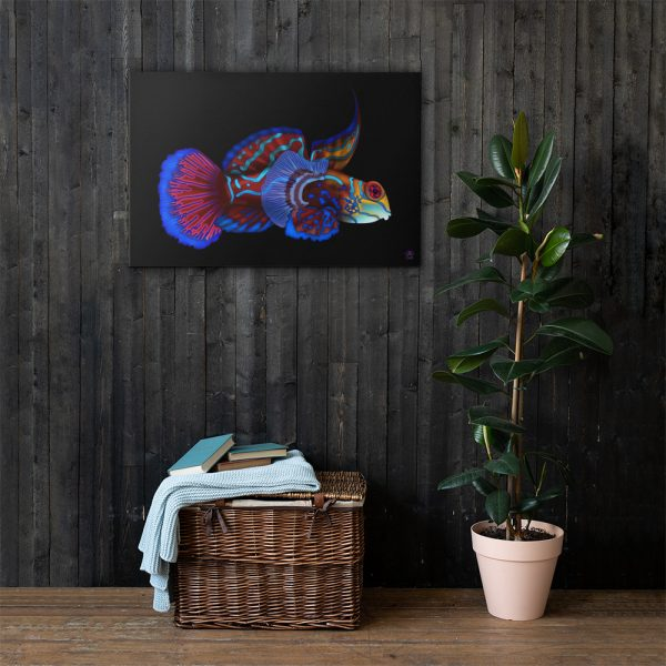 CAVIS Mandarinfish Gallery Wrapped Canvas Wall Art 24x36 Lifestyle 2